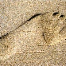 #4403 Fußabdruck am Strand